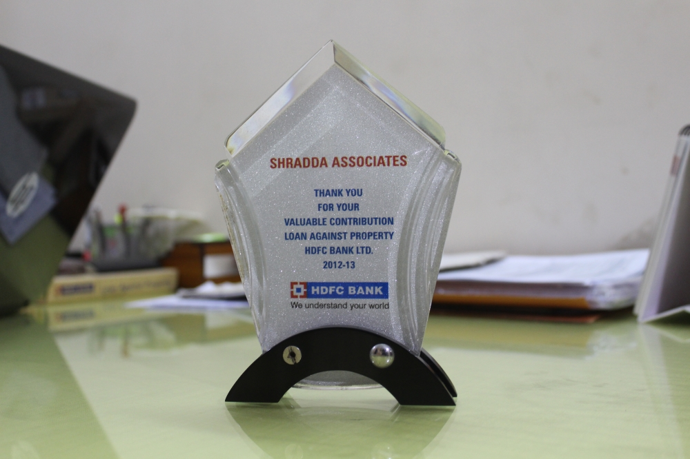 Award from HDFC Bank 2012-13